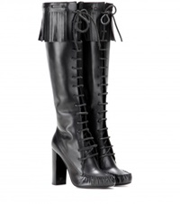 Tom Ford Santa Fe Leather Knee Boots Black