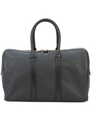 Thom Browne Unstructured Holdall In Tumbled Calf Leather Leather Black