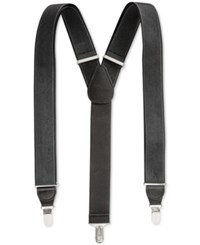 Club Room Men's Solid Suspenders Only At Macy's Black Grey