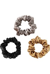Slip Set Of Three Large Silk Hair Ties Black
