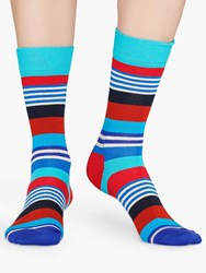 Happy Socks Multi Stripe One Size Red Blue