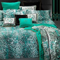 Roberto Cavalli Scamuskin Duvet Set Super King Teal