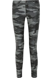 Current Elliott The Ankle Skinny Camouflage Mid Rise Jeans