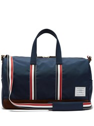 Thom Browne Suede Trimmed Canvas Holdall Navy