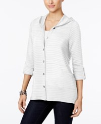 Style And Co Co. Petite Hooded Knit Jacket Only At Macy's Bright White