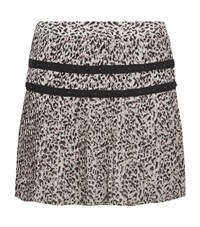 Juicy Couture Empress Leopard Print Pleated Skirt Female