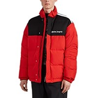 Palm Angels Colorblocked Tech Fabric And Hopsack Down Puffer Coat Red