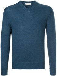 Cerruti 1881 V Neck Jumper Blue