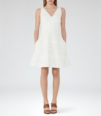 Reiss Daisy Womens Fit And Flare Dress In White