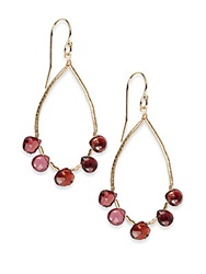 Eva Hanusova Garnet Teardrop Earrings Red Garnet