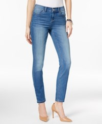Inc International Concepts Curve Creator Indigo Wash Skinny Jeans Only At Macy's