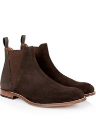 Grenson Nolan Suede Chelsea Boots Chocolate