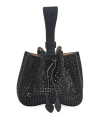 Alaia Rose Marie Wristlet Small Bucket Bag Black