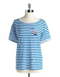 French Connection Striped Cotton Tee Albanian