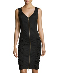 Xcvi Sleeveless Ruched Dress Black