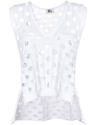 Lost And Found Ria Dunn Net Tank White