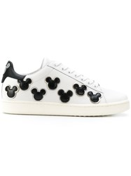 Moa Master Of Arts Mickey Patch Sneakers Cotton Leather Rubber White