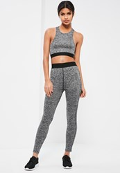 Missguided Active Grey Elasticated Sports Leggings