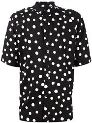Stampd Polka Dot Print Shirt Black