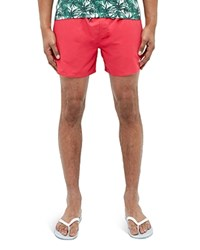 Ted Baker Solid Drawstring Swim Shorts Pink