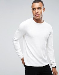 Only And Sons Knitted Jumper With Textured Roll Hem Cloud Dancer Cream