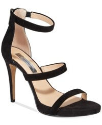 Inc International Concepts Sadiee Strappy Dress Sandals Only At Macy's Women's Shoes Black Suede