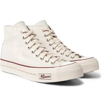 Visvim Skagway Canvas High Top Sneakers Off White
