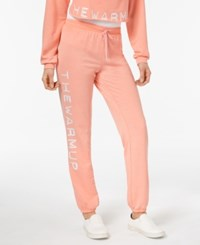 Jessica Simpson The Warm Up Burnout French Terry Joggers Work Out Blush