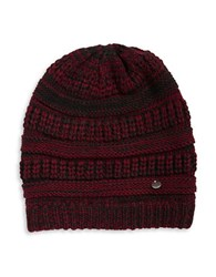Modena Ribbed Marled Knit Beanie Red