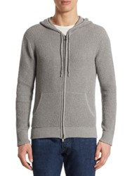 Polo Ralph Lauren Cotton And Cashmere Hoodie Grey