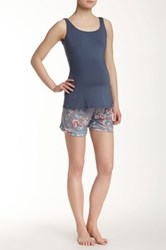 Majamas Sunrise Maternity Nursing Tank And Short Pajama Set Multi