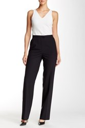 Lafayette 148 New York Flat Front Wool Blend Pant Black