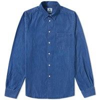 Paul Smith Tailored Fit Denim Pocket Shirt Blue