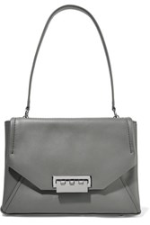 Zac Posen Eartha Leather Shoulder Bag Gray