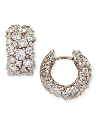Large White Diamond Confetti Hoop Earrings Paul Morelli