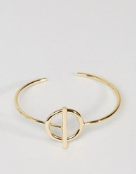 Asos Limited Edition Toggle Cuff Bracelet Gold