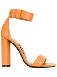 Tom Ford Ankle Strap Sandals Women Calf Leather Leather Brass 38 Yellow Orange