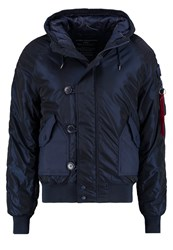 Alpha Industries Hunter Winter Jacket Replica Blue Dark Blue