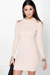 Mel Long Sleeve Cut Out Shoulder Bodycon Dress