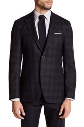Ike Behar Plaid Wool Sport Coat Black