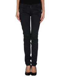 Camouflage Ar And J. Casual Pants Dark Blue