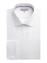 Alexandre Savile Row Dobby Raindrop Tailored Fit Formal Shirt White