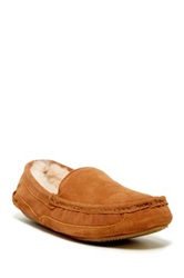 Gold Toe Fleece Lined Slip On Loafer Slipper Beige