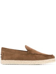 Tod's Classic Espadrille Loafers Brown