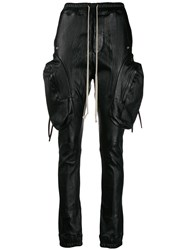 Rick Owens Side Pocket Leather Track Trousers 60