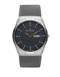Skagen Mens Titanium Mesh Watch Silver