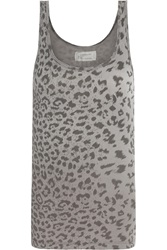 Current Elliott The Perfect Leopard Print Cotton Tank Animal Print
