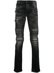 Unravel Project Multi Zip Slim Jeans Black