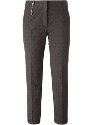 Incotex Cropped Jacquard Trousers