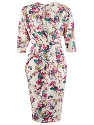 Closet Floral Print Scuba Wrap Dress Multi
